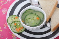 Soup of cucumber Stock Photography