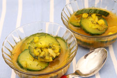 Soup of cucumbers Royalty Free Stock Images