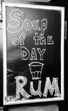 Soup of the day, RUM bar sign Stock Image