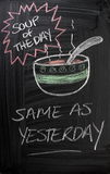 Soup of The Day royalty free stock photos