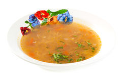 Soup for the dinner Royalty Free Stock Images