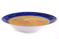 Soup in a dish Royalty Free Stock Image