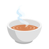 Soup dish isolated icon Royalty Free Stock Images