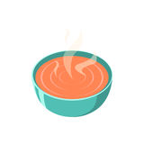 Soup dish isolated icon. Vector illustration. Hot soup picture Royalty Free Stock Photography