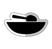Soup dish with spoon. Vector illustration design Stock Photography