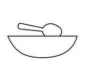 Soup dish with spoon. Vector illustration design Royalty Free Stock Photo
