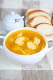 Soup with dumplings Stock Image