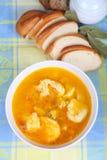 Soup with dumplings Stock Images