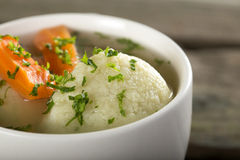 Soup with dumplings Royalty Free Stock Photography