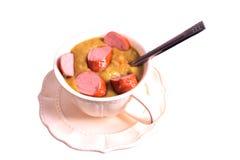 soup för baconärtapumpernickel Royaltyfri Fotografi