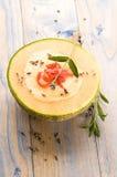 soup för melon för blommaskinkalavendel Royaltyfria Bilder