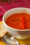 soup för morotpepparred Arkivbilder