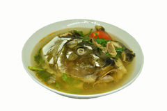 Soup fish head Royalty Free Stock Image