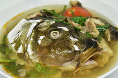 Soup fish head Royalty Free Stock Images