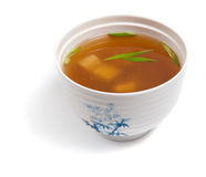 Soup of fish, shellfish, seaweed and vegetables Royalty Free Stock Photos