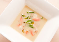 Soup with Fish and Vegetables Royalty Free Stock Photography