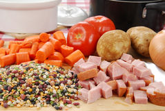 Soup Fixings Stock Photo