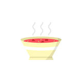Soup flat icon, food drink elements Royalty Free Stock Photography
