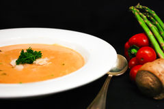 Soup and Fresh Produce Royalty Free Stock Photo
