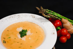 Soup and Fresh Produce Royalty Free Stock Images