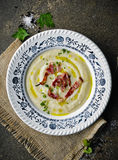 Soup. With fresh vegetables and bacon Stock Photo