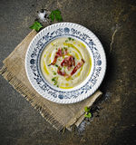 Soup. With fresh vegetables and bacon Royalty Free Stock Images