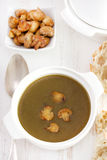 Soup with fried mushrooms Royalty Free Stock Photography