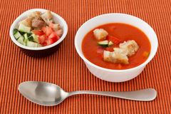 Soup gaspacho in the bowl Royalty Free Stock Image