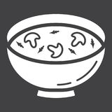 Soup glyph icon, food and drink, bowl sign Royalty Free Stock Photo