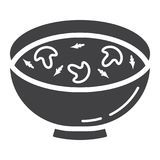 Soup glyph icon, food and drink, bowl sign Royalty Free Stock Image