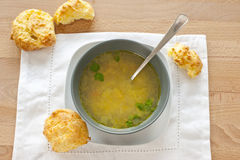 Soup and gougere Stock Image
