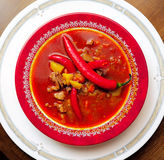 Soup a goulash from vegetables and veal Royalty Free Stock Photos