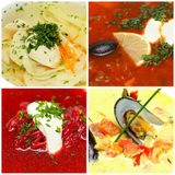 Soup - gourmet food Stock Image