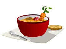 Soup graphic Royalty Free Stock Image