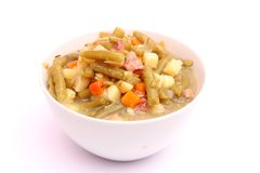 Soup of green beans Royalty Free Stock Images