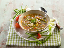 Soup with green beans Royalty Free Stock Image