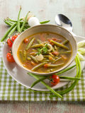 Soup with green beans Royalty Free Stock Images