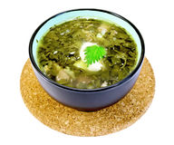 Soup green nettle on a stand Royalty Free Stock Image
