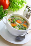 Soup with green peas. Stock Photography