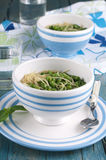 Soup with green pease Royalty Free Stock Images