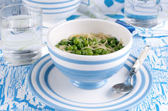Soup with green pease Stock Photos