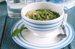 Soup with green pease Stock Images