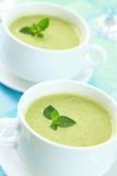 Soup of green vegetables stock images
