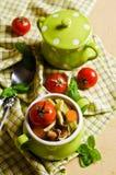 Soup with homemade pasta Stock Photos