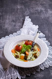 Soup with homemade pasta Royalty Free Stock Photo