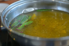 Soup hot pot Stock Photo