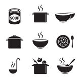 Soup icons set Royalty Free Stock Images