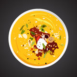 Soup illustration Stock Photos