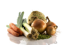 Soup ingredient vegetables Royalty Free Stock Image