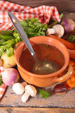 Soup and ingredient Stock Photos